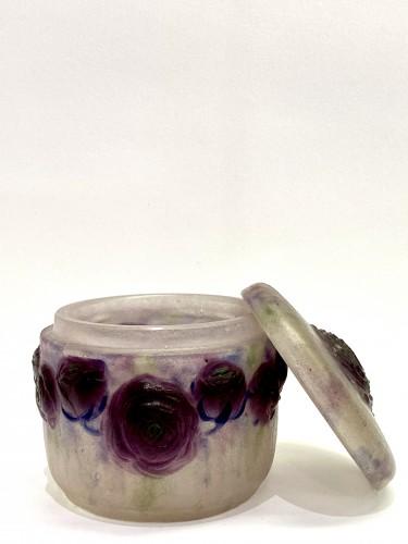 1921 Gabriel Argy-rousseau - Box Jar Roses Renonculus  - Art Déco