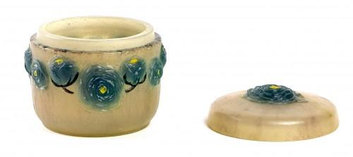 Glass & Crystal  - 1921 Gabriel Argy-rousseau - Renonculus Roses Box