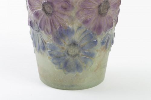 Glass & Crystal  - 1920 Gabriel Argy-rousseau -  Vase Soucis Pate De Verre Glass Green, Purple