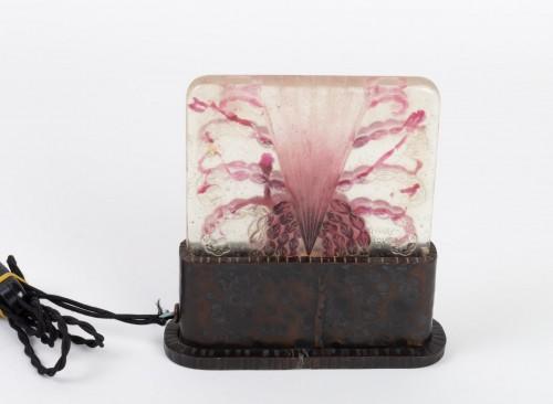 1930 Gabriel Argy-rousseau - Night Lamp Algues Pâte De Verre Cameo Glass - Glass & Crystal Style Art Déco