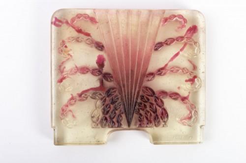 Art Déco - 1930 Gabriel Argy-rousseau - Night Lamp Algues Pâte De Verre Cameo Glass