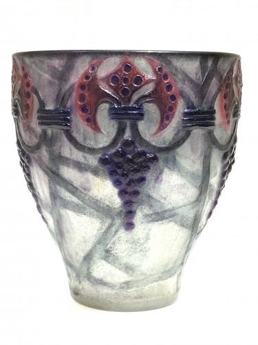 """1926 Gabriel Argy-rousseau - Vase """"Branches""""  - Glass & Crystal Style Art Déco"""