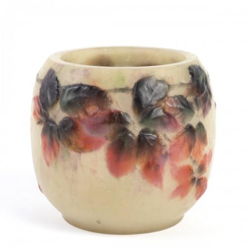 1920 Gabriel Argy-rousseau - Vase Araignées Et Ronces Pate De Verre Glass C - Glass & Crystal Style Art Déco