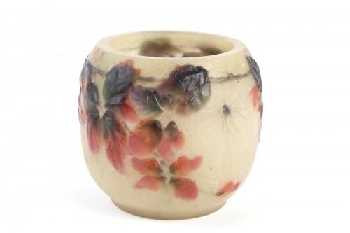 20th century - 1920 Gabriel Argy-rousseau - Vase Araignées Et Ronces Pate De Verre Glass C