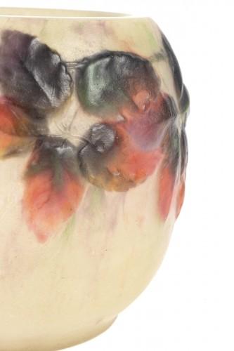 Art Déco - 1920 Gabriel Argy-rousseau - Vase Araignées Et Ronces Pate De Verre Glass C