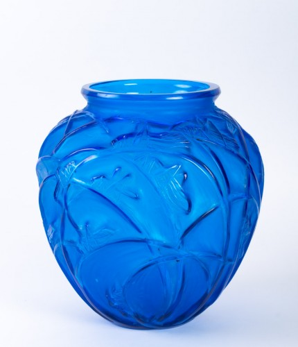 """1912 Rene Lalique - Vase """"Sauterelles""""  - Glass & Crystal Style Art nouveau"""