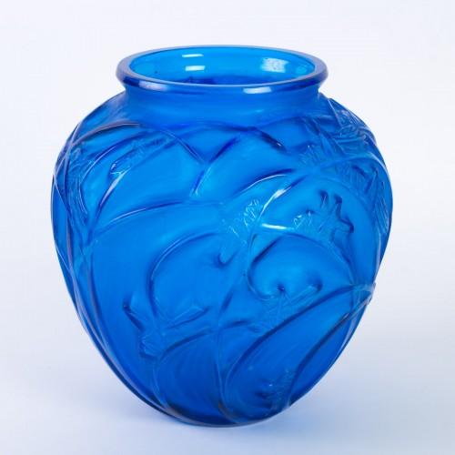 """Art nouveau - 1912 Rene Lalique - Vase """"Sauterelles"""""""