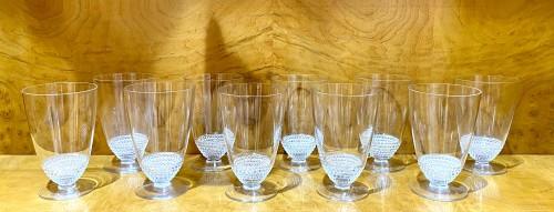 "Glass & Crystal  - 1930 Original René Lalique - Orange Juice set ""Nippon"""