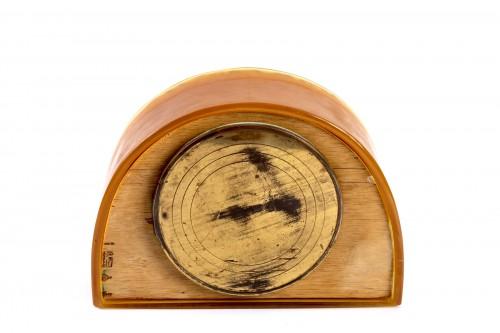 """1924 René Lalique - Clock """"Moineaux"""" Butterscotch Clock Original Ato Movement - Art Déco"""
