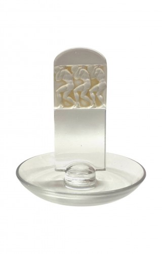 """1931 René Lalique - Ashtray Pintray """"Athletes"""""""