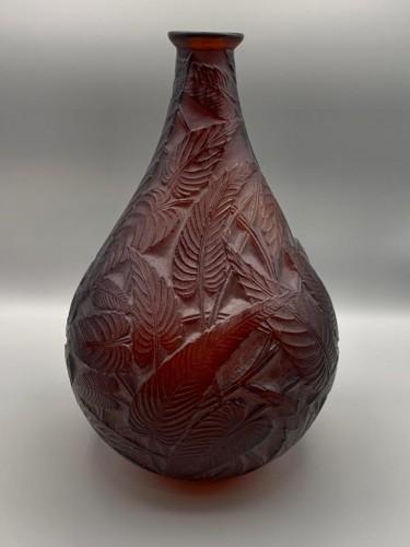 1923 René Lalique - Vase Sauges - Glass & Crystal Style Art Déco
