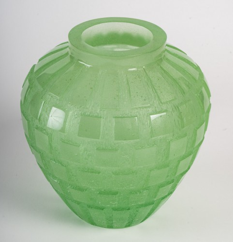 Daum - Rythmes Vase - Glass & Crystal Style Art Déco