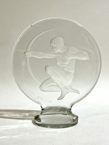 "1926 René Lalique - Car Mascot ""Archer""  - Glass & Crystal Style Art Déco"