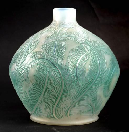 1920 René Lalique - Vase Plumes - Glass & Crystal Style Art Déco