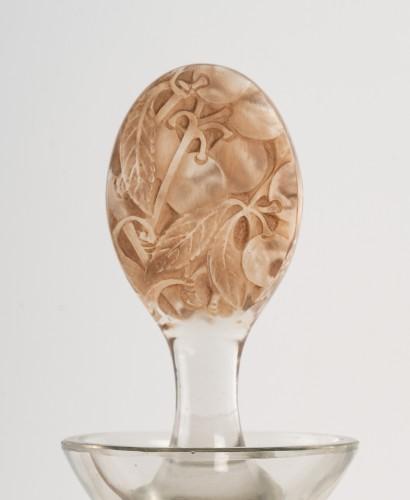1923 René Lalique - Decanter Prunelles - Glass & Crystal Style Art Déco