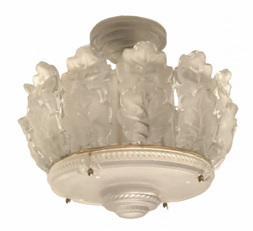 "Lighting  - Ceiling Chandelier ""Chêne"" by Marc Lalique"