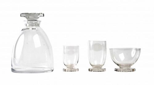 1938 René Lalique  - Lille Glasses Set  of 25 Pieces