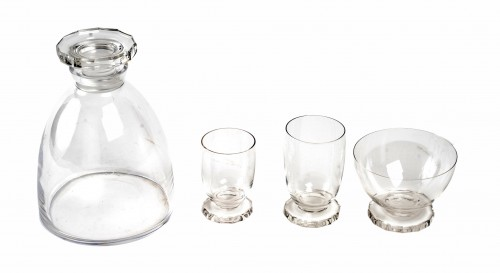 Glass & Crystal  - 1938 René Lalique  - Lille Glasses Set  of 25 Pieces
