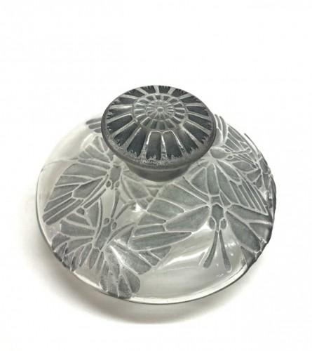 1914 René Lalique - Perfume Bottle Misti For L.t Piver Glass & Blue Patina - Glass & Crystal Style Art Déco