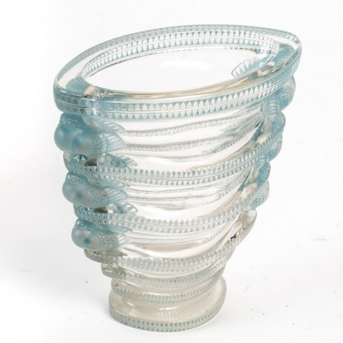 1939 René Lalique - Vase Saint-marc - Glass & Crystal Style Art Déco