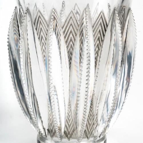 1934 René Lalique - Vase Gerardmer - Glass & Crystal Style Art Déco