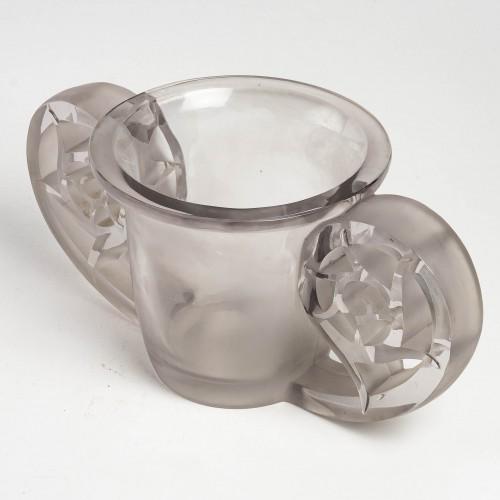 1926 René Lalique - Vase Pierrefonds - Glass & Crystal Style Art Déco