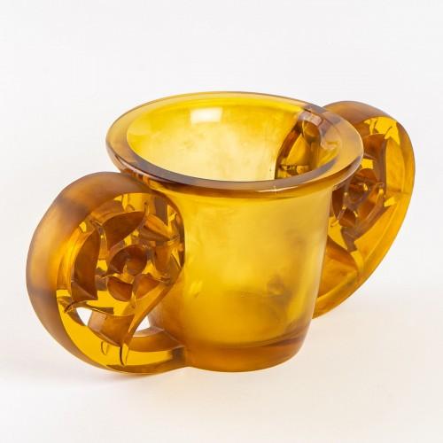 1926 René Lalique - Pierrefonds Vase - Glass & Crystal Style Art Déco