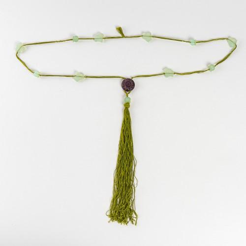Glass & Crystal  - 1922 René Lalique Long Necklace Muguet Lierre
