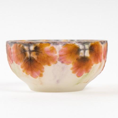 Glass & Crystal  - 1914 Gabriel Argy-rousseau - Bowl Feuilles Large Cameo