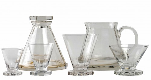 1935 René Lalique - Set Of Quincy Glasses Set - 34 Pieces