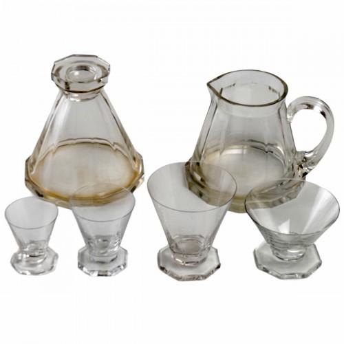 Glass & Crystal  - 1935 René Lalique - Set Of Quincy Glasses Set - 34 Pieces