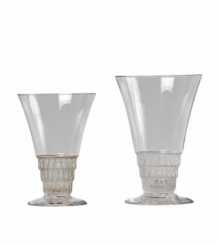 1930 René Lalique -  20 Glasses Bourgueil Wine glass