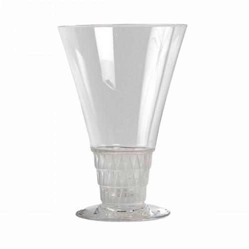 1930 René Lalique -  20 Glasses Bourgueil Wine glass -