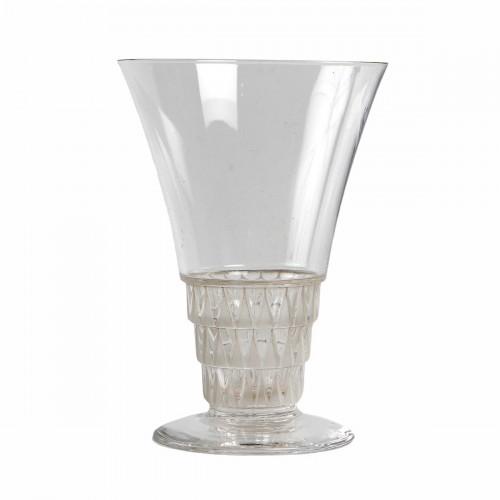 1930 René Lalique -  20 Glasses Bourgueil Wine glass - Art Déco
