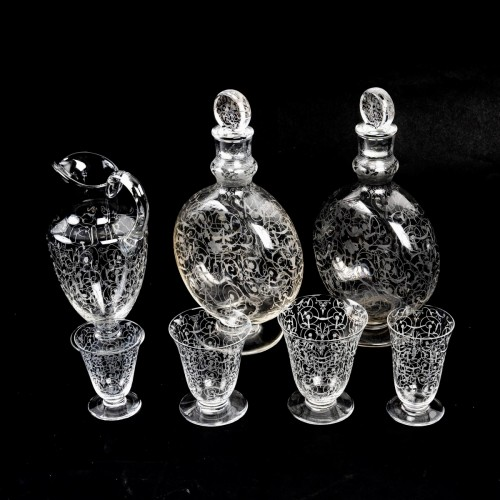 1920 Baccarat - Set Of Crystal Michel Ange Glasses - 35 Pieces