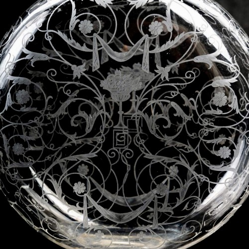 Glass & Crystal  - 1920 Baccarat - Set Of Crystal Michel Ange Glasses - 35 Pieces