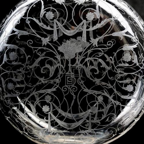 Art Déco - 1920 Baccarat - Set Of Crystal Michel Ange Glasses - 35 Pieces
