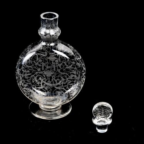 Antiquités - 1920 Baccarat - Set Of Crystal Michel Ange Glasses - 35 Pieces