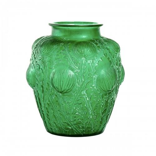 1926 René Lalique - Vase Domrémy Emerald