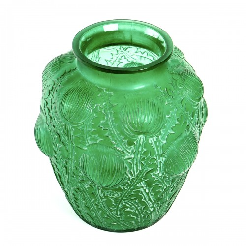 Glass & Crystal  - 1926 René Lalique - Vase Domrémy Emerald