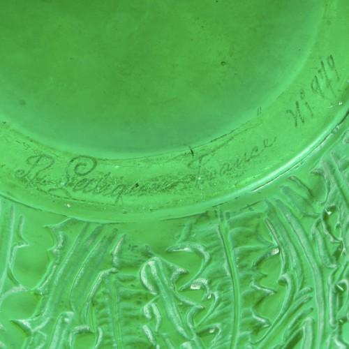 1926 René Lalique - Vase Domrémy Emerald - Art Déco