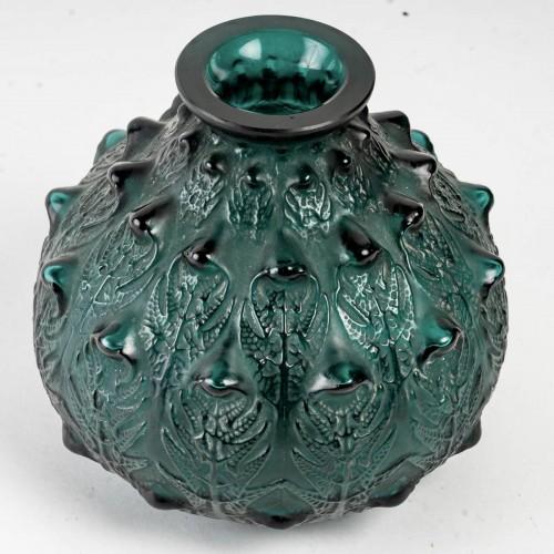 1912 René Lalique - Vase Fougères - Glass & Crystal Style Art Déco