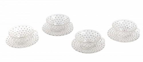 x1933 René Lalique - Set Of 9 Cactus Plates - Glass & Crystal Style Art Déco