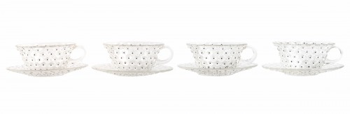 Glass & Crystal  - x1933 René Lalique - Set Of 9 Cactus Plates