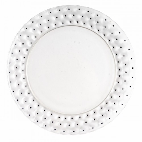 Glass & Crystal  - 1933 René Lalique - Set Of 9 Cactus Plates In