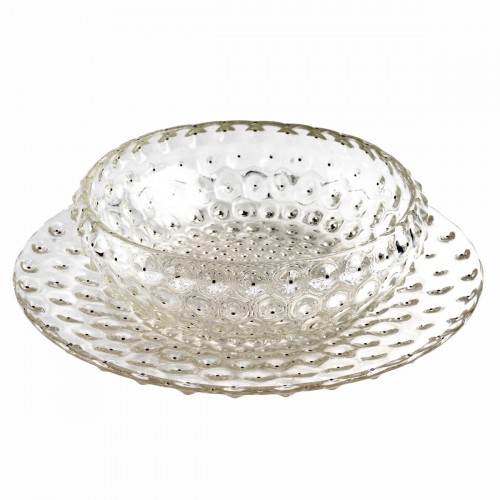 1933 René Lalique - Bowl And Plate Cactus In - Glass & Crystal Style Art Déco