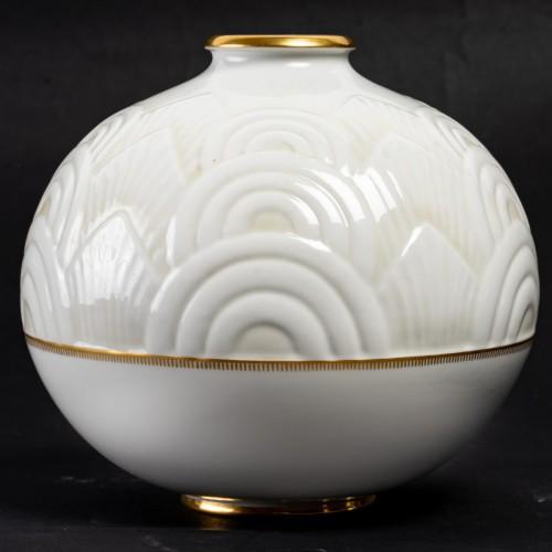 1934 Manufacture de Sèvres - Round Art Deco Vase -