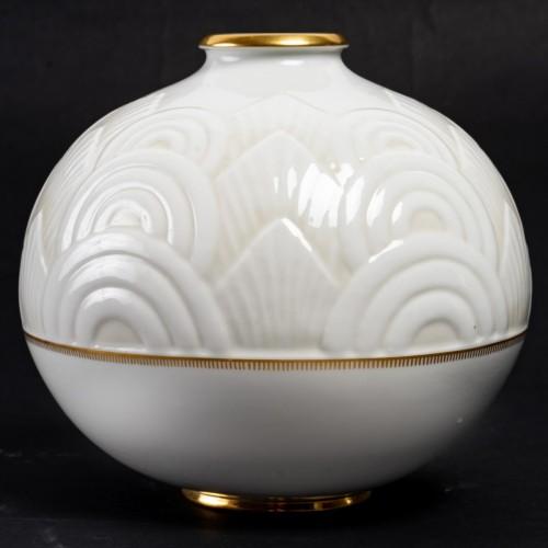1934 Manufacture de Sèvres - Round Art Deco Vase - Art Déco