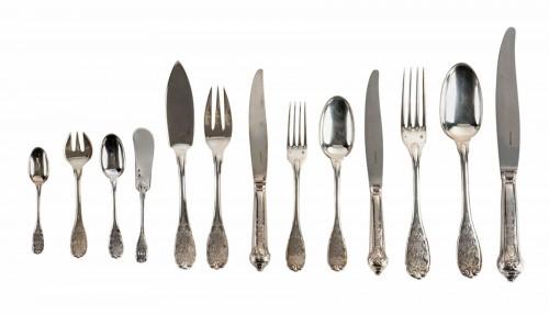 Puiforcat Paris Elysée Cutlery Set - 258 Pieces + 35 Servin