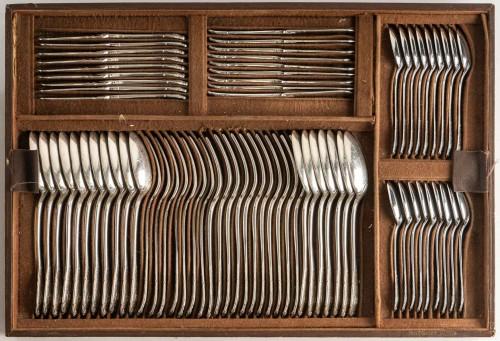 Antique Silver  - Puiforcat Paris Elysée Cutlery Set - 258 Pieces + 35 Servin